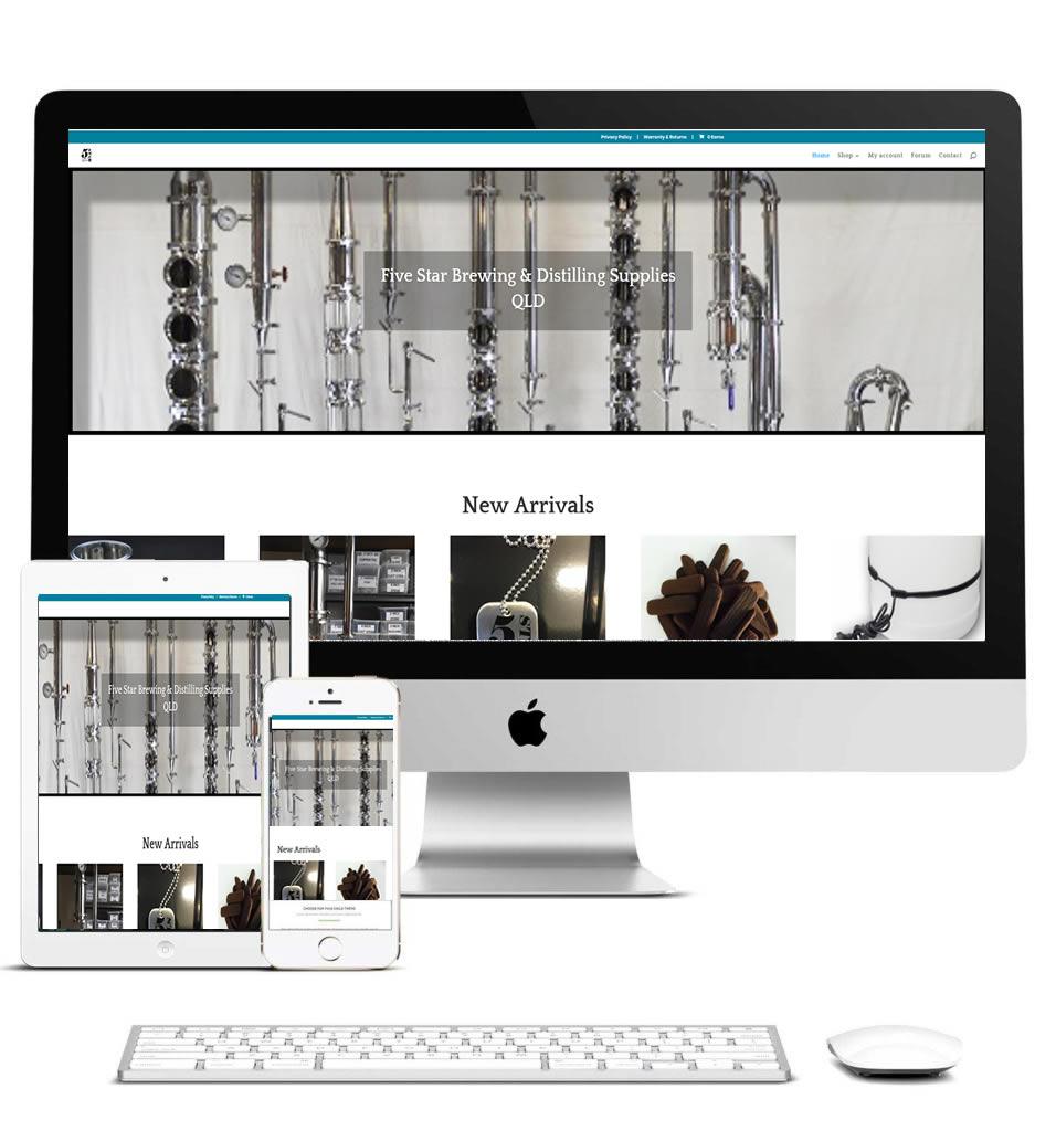 5Star Distilling website designed by WebScape